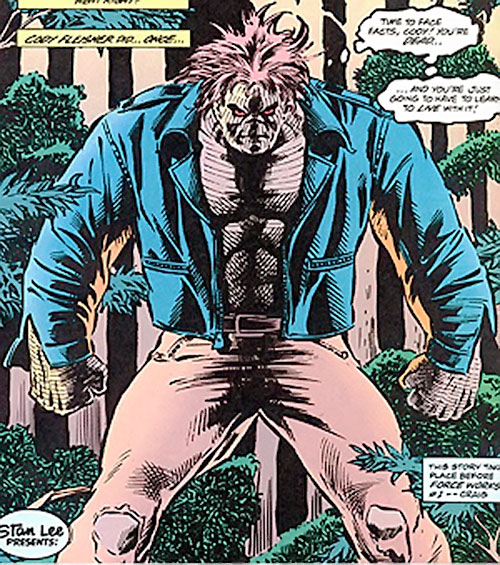 Cadaver of the Secret Defenders (Marvel Comics) in a forest