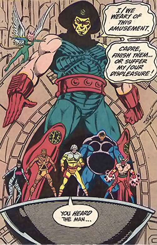 Overmaster (JLA enemy) (DC Comics) with his original Cadre