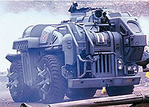 The armored troops transport in the movie Soldier