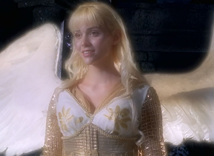 Callisto (Hudson Leick) in angelic form