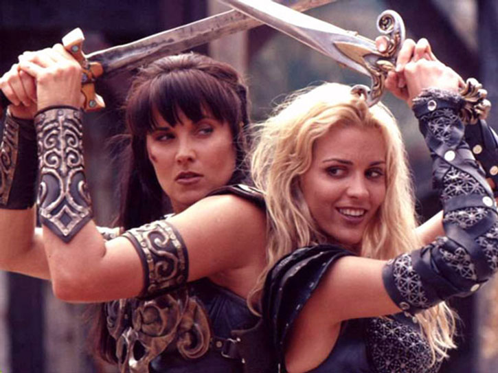 Callisto (Hudson Leick) fights alongside Xena
