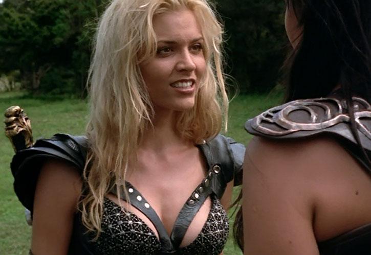 Callisto (Hudson Leick) confronting Xena