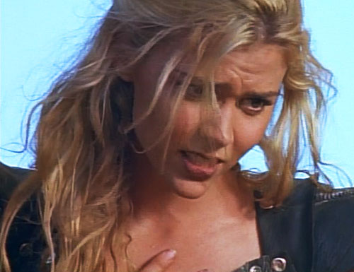 Callisto (Hudson Leick in Xena) being dramatic