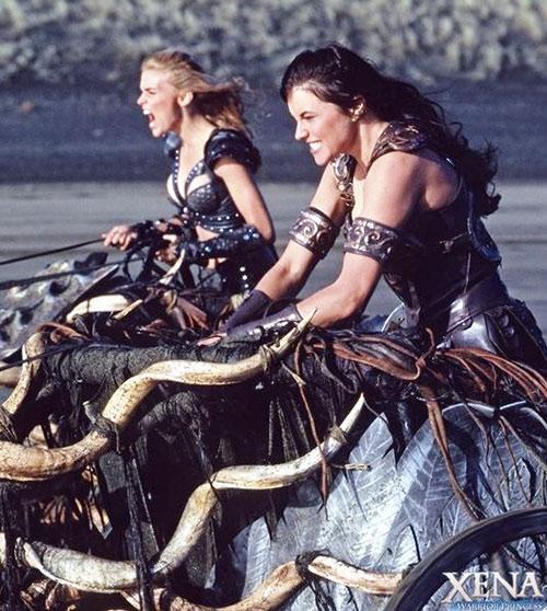 Callisto (Hudson Leick in Xena) chariot race
