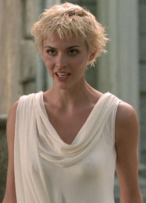 Callisto (Hudson Leick in Xena) short hair white toga