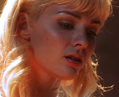 Callisto (Hudson Leick in Xena) redeemed face closeup