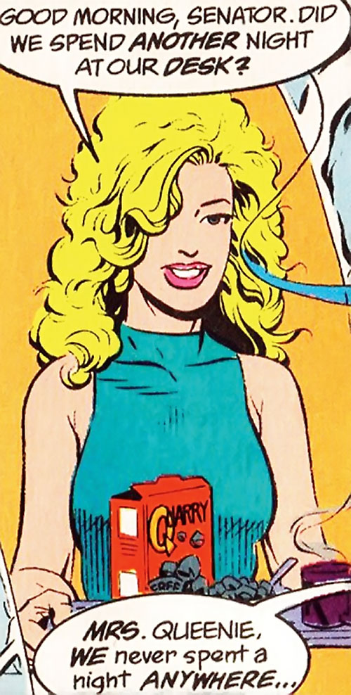 Calorie Queen (DC Comics) (Legion of Super-Heroes 5 year gap) in teal with rock cereals