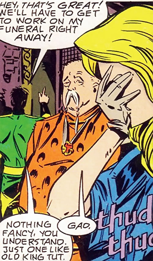 Calorie Queen (DC Comics) (Legion of Super-Heroes 5 year gap) facepalming