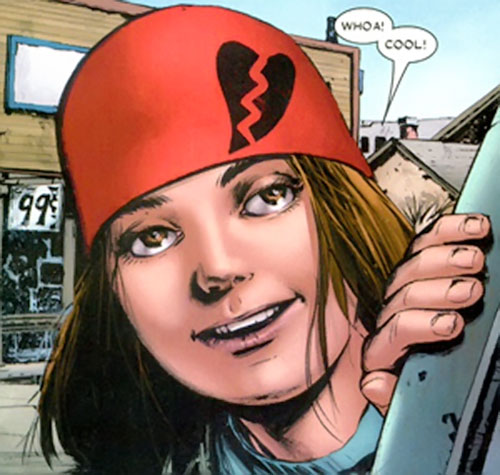 Cammi (Drax character) (Marvel Comics) with her red woollen hat