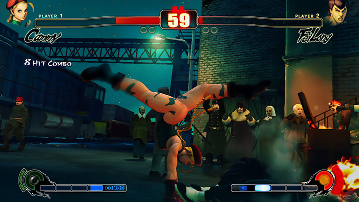 Cammy making a handstand attack