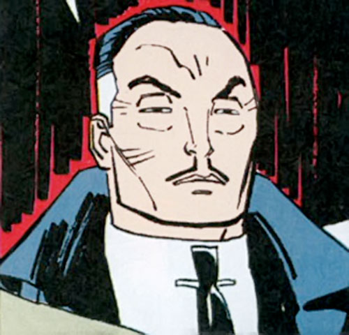 Cane (Punisher enemy) (Marvel Comics) face closeup