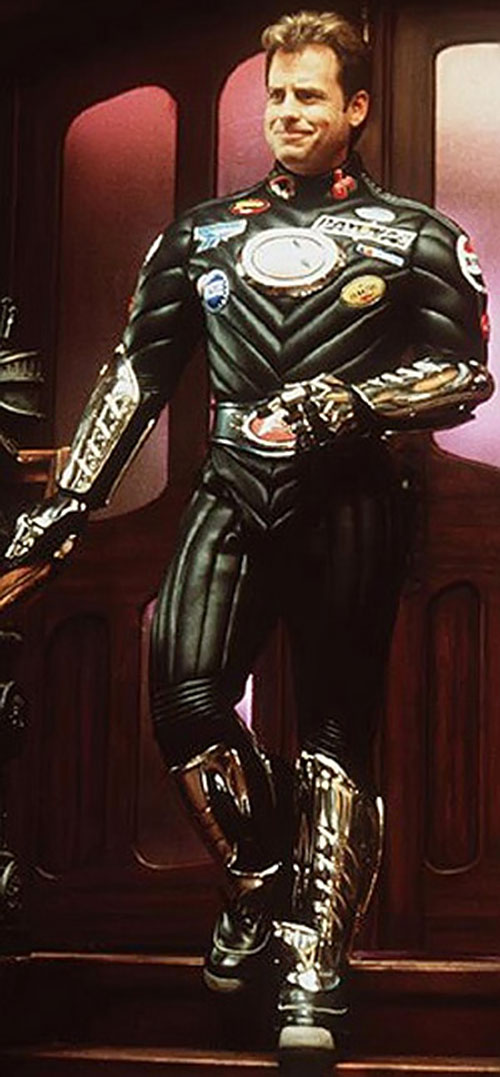 Captain Amazing (Greg Kinnear in Mystery Men) full costume view