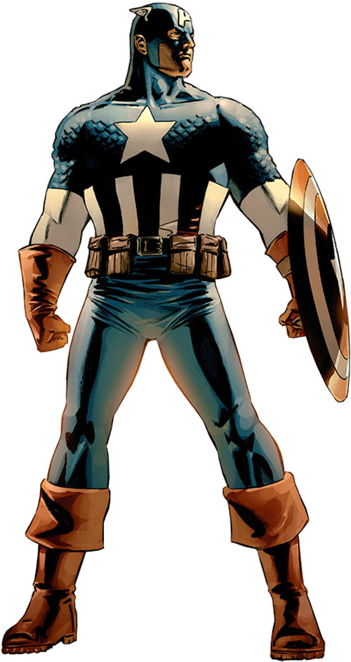Captain America (Steve Rogers) (Marvel Comics) from the 2000s handbooks