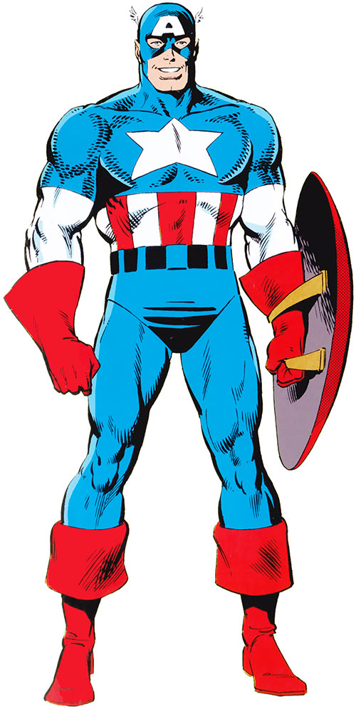 Captain America (Steve Rogers) (Marvel Comics) from the handbook