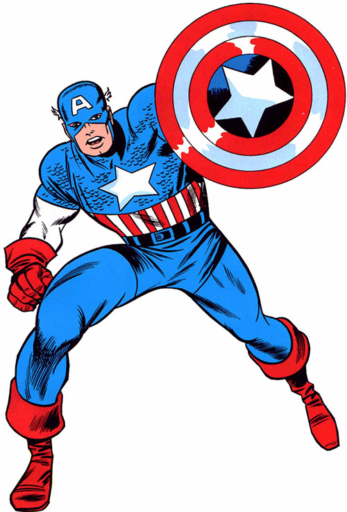 Captain America (Steve Rogers) (Marvel Comics) 1960s art