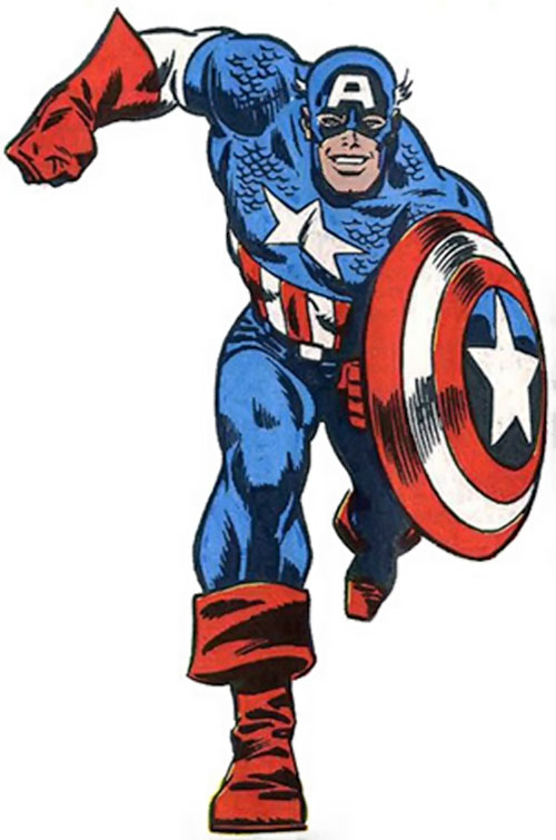 Captain America (Steve Rogers) (Marvel Comics) 1980s art