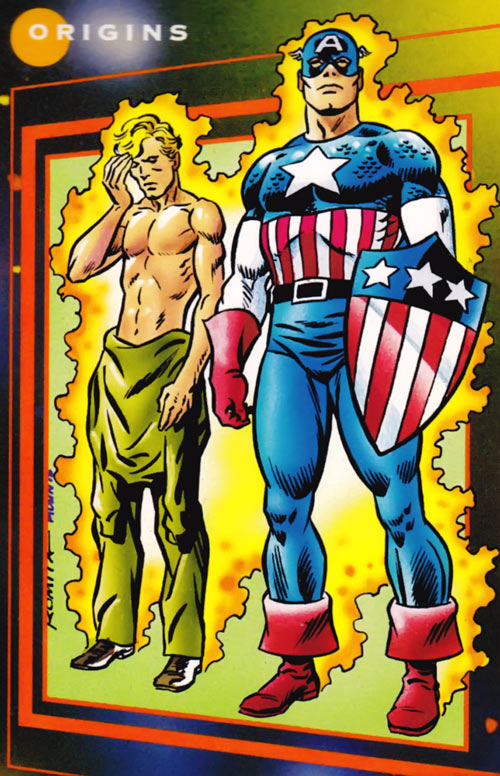 Captain America (Steve Rogers) (Marvel Comics) trading card