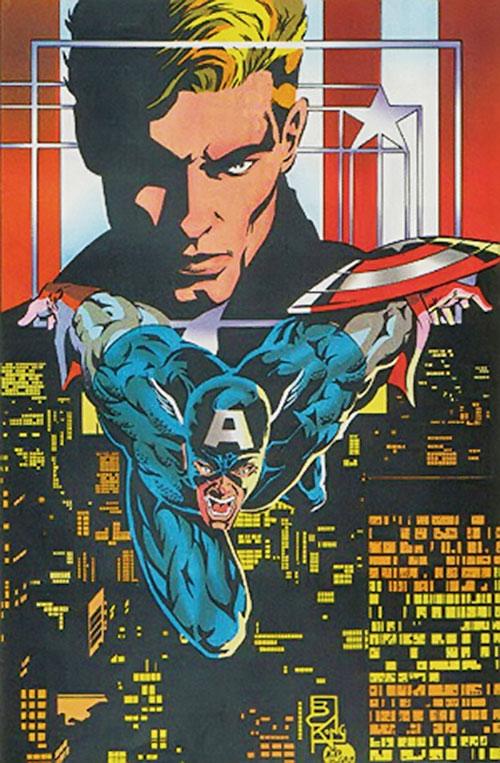Captain America (Steve Rogers) 1990s poster