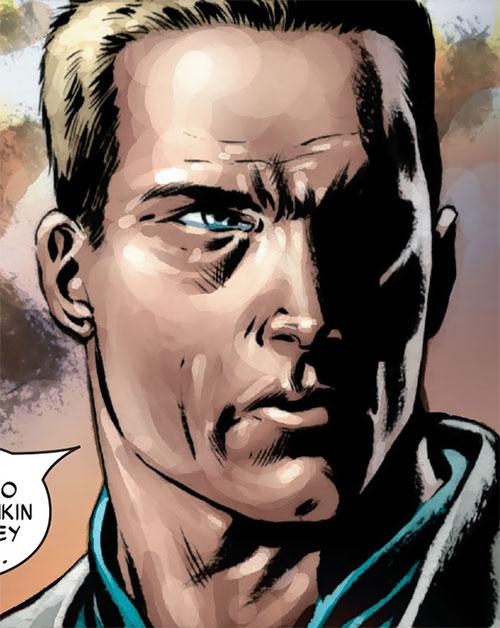 Captain America (Steve Rogers) face closeup