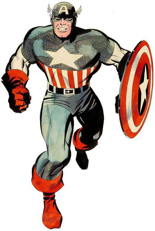 Captain America (Steve Rogers) (Marvel Comics) 1970s sketch