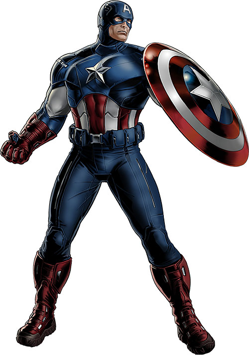Captain America (Steve Rogers) in a movie-style uniform