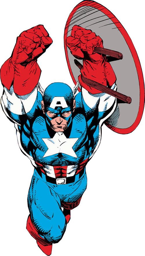 Captain America (Steve Rogers) (Marvel Comics) by Jim Lee