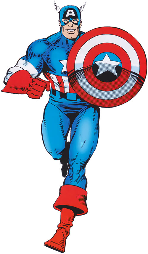 Captain America (Steve Rogers) (Marvel Comics) from the handbook (1988 Deluxe TPB run)