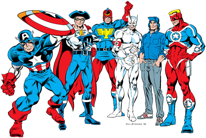 Captain America - 6 men who bore the title and wore the costume