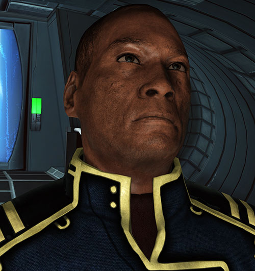 Captain Anderson (Mass Effect 1) face closeup