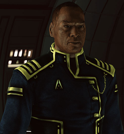 Captain Anderson (Mass Effect 1) in dim light