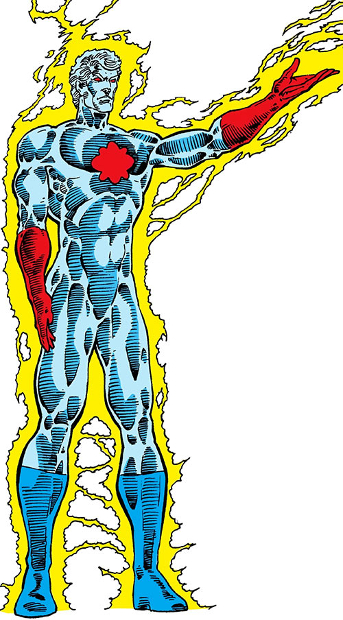 Captain Atom (DC Comics) Pat Broderick art from the 1987 Who's Who
