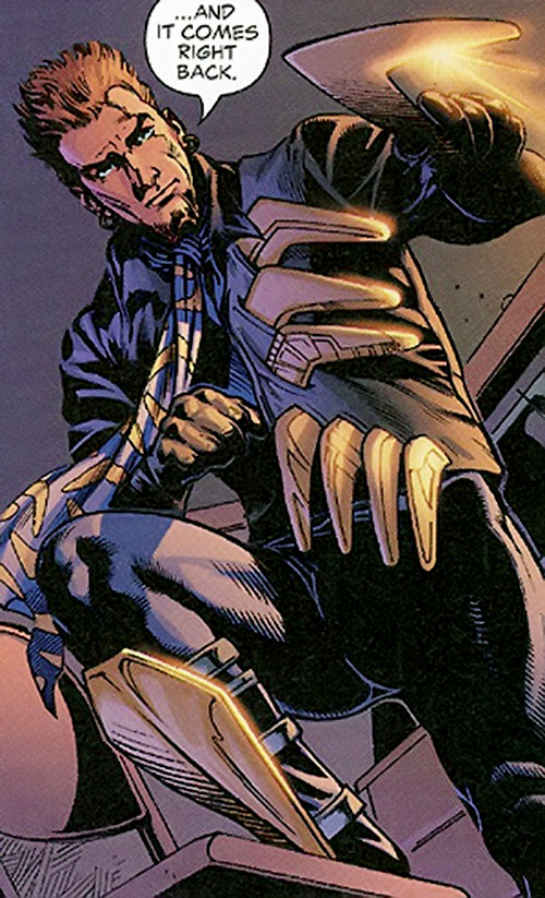 Captain Boomerang (Owen Mercer) of the Outsiders (DC Comics) with his projectiles-holding vest