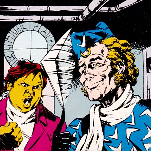 Captain Boomerang of the Suicide Squad (DC Comics) and Amanda Waller