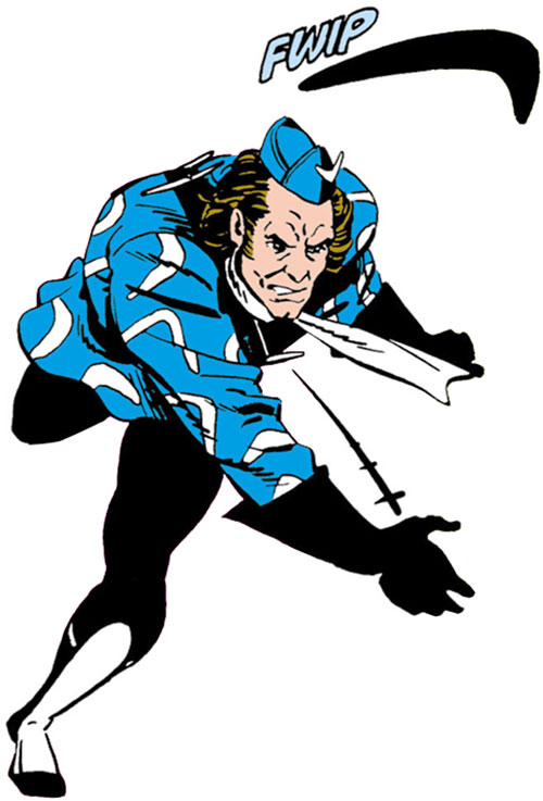 Captain Boomerang of the Suicide Squad (DC Comics) throwing a boomerang