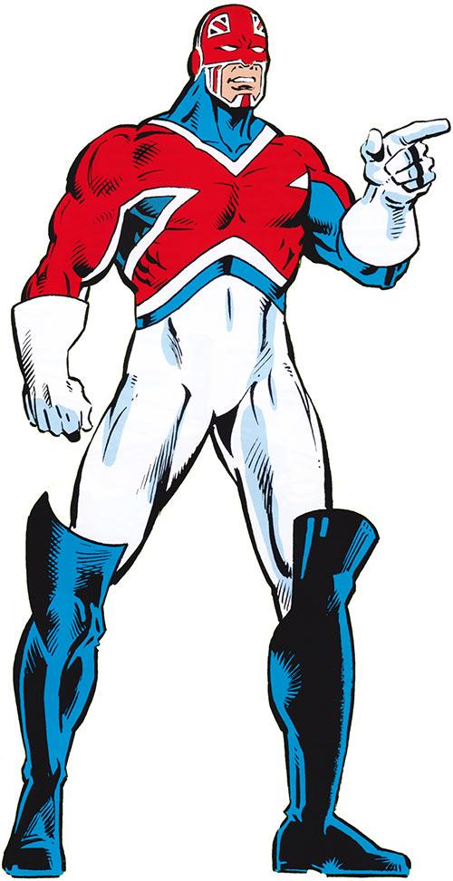 Captain Britain (Marvel Comics) (Brian Braddock) OHOTMU art in the 1980s