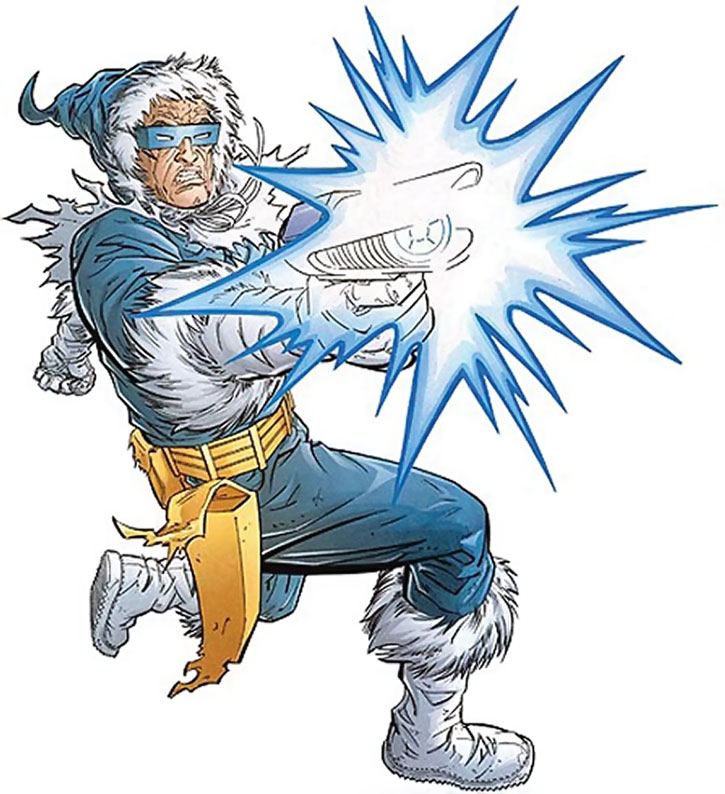 Captain Cold shooting his gun