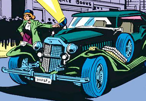Police Captain Jean Dewolff (Spider-Man characters) (Marvel Comics) and her roadster