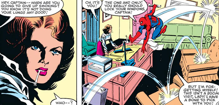 Captain Jean Dewolff and Spider-Man