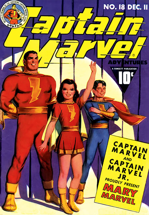 Captain Marvel vol 1 18 - Mary Marvel - Fawcett comics - Painted cover