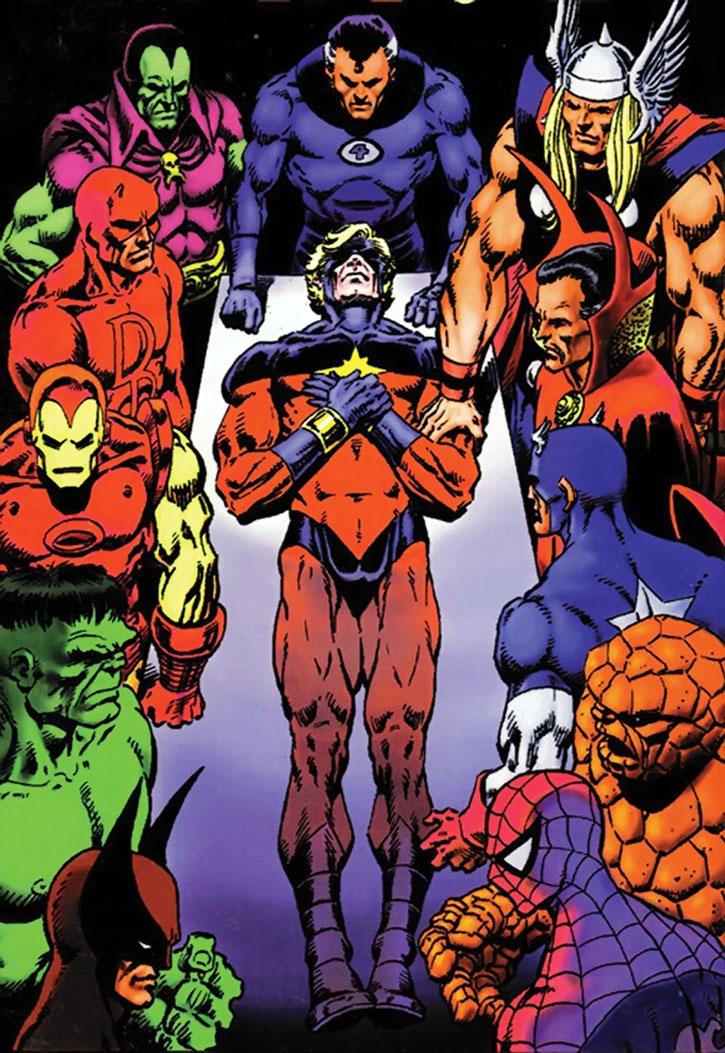 Iconic death of Captain Marvel scene