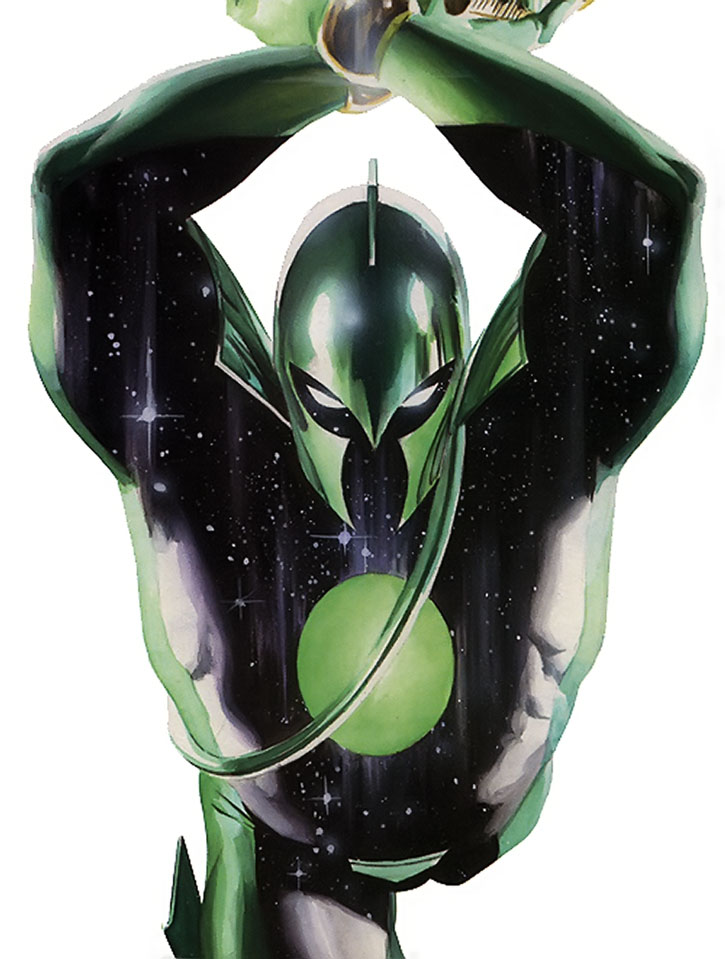 Captain Marvel (Genis-Vell)'s helmeted Kree soldier look