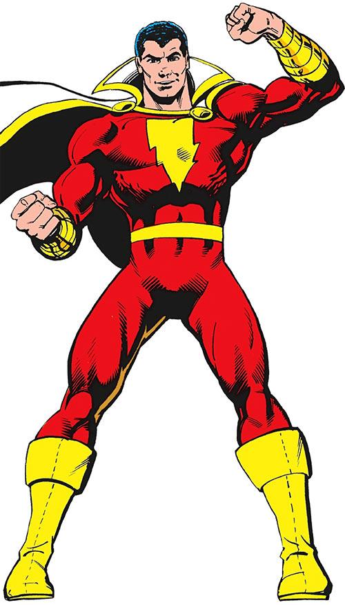 Captain Marvel (DC Comics) (Batson / Shazam) by Tom Mandrake in the 1987 Who's Who