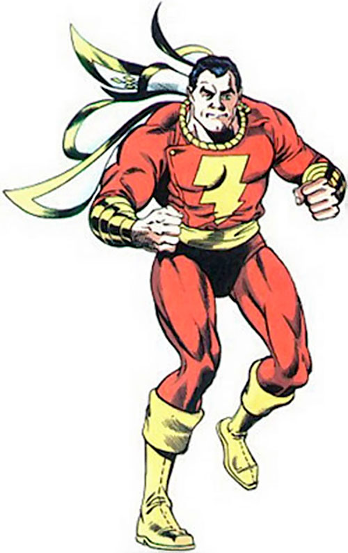 Captain Marvel with clenched fists