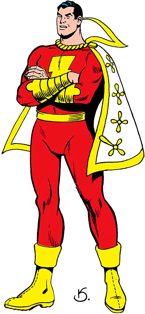 Captain Marvel from the Who's Who