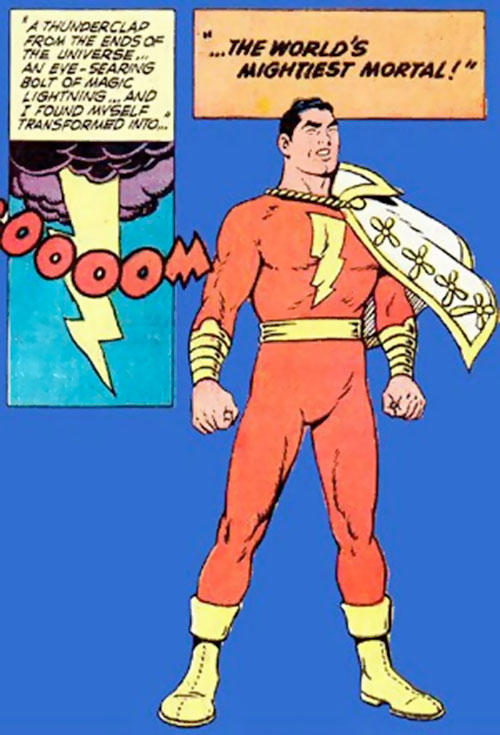 Billy Batson turned into Captain Marvel