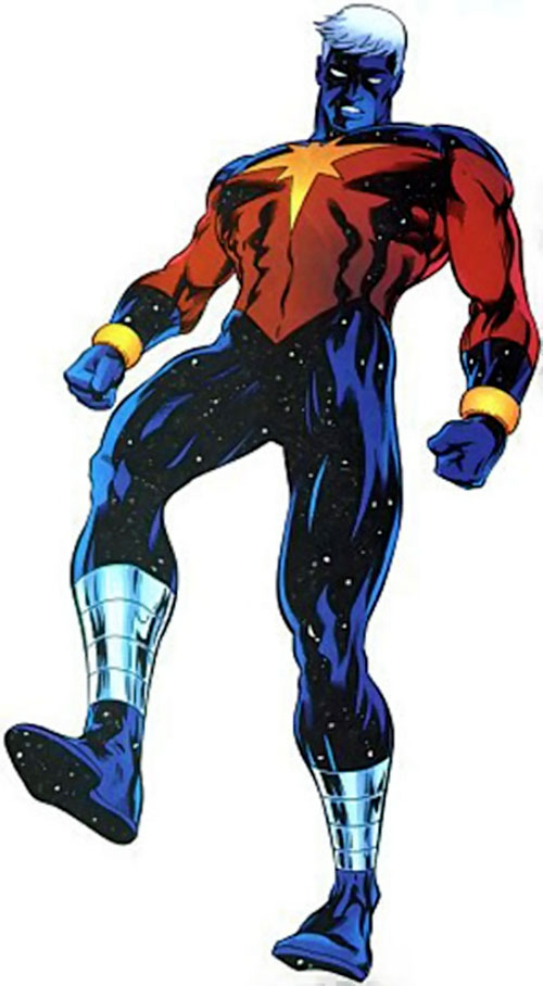 Captain Marvel (Genis Vell) (Marvel Comics) hovering