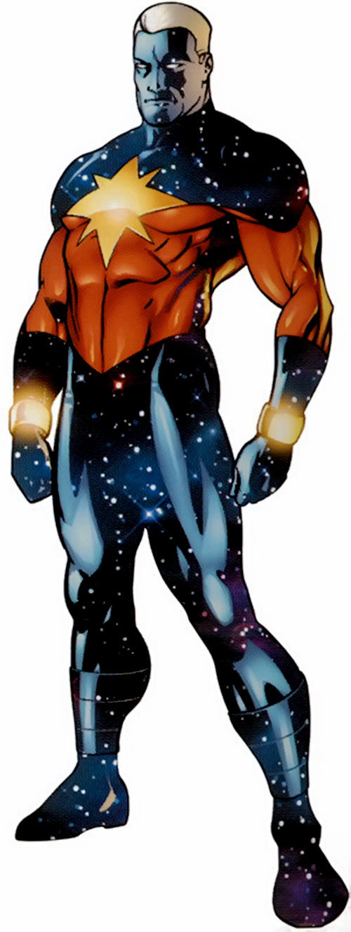 Captain Marvel (Genis Vell) (Marvel Comics) in a heroic pose
