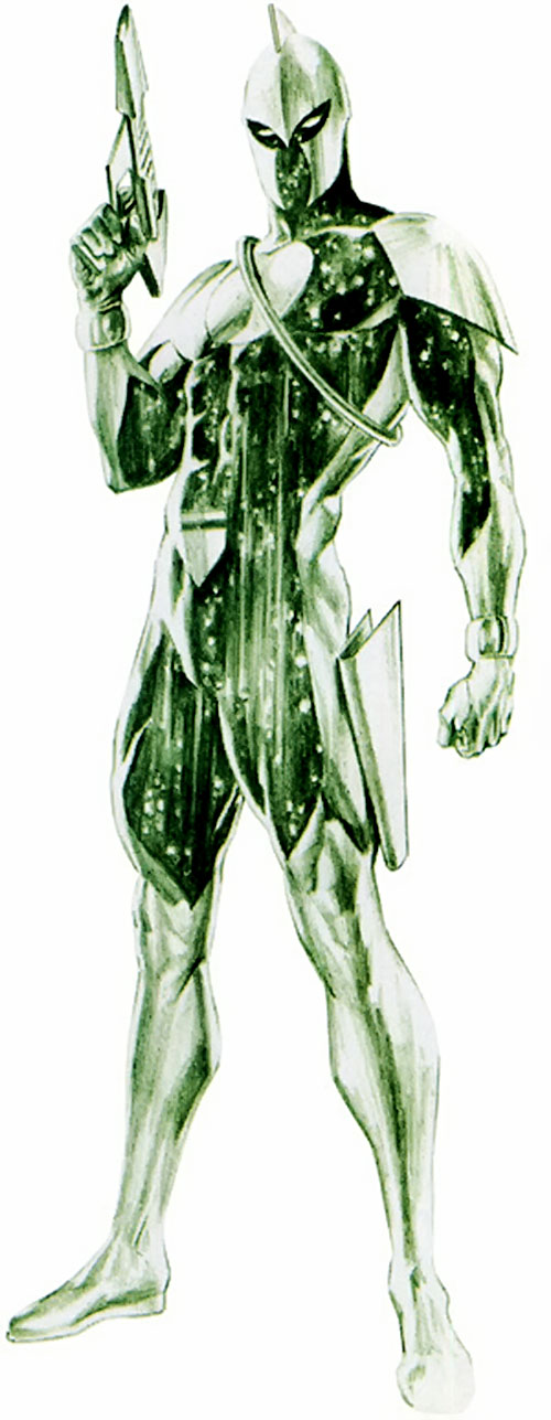 Captain Marvel (Genis Vell) (Marvel Comics) in the green Kree uniform