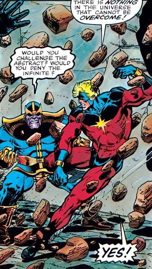 Captain Mar-Vell (Marvel Comics) vs. Thanos
