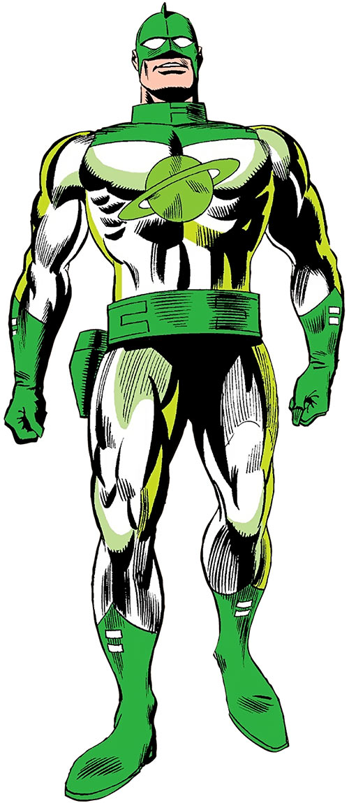 Captain Mar-Vell (Marvel Comics) in the vintage green and white uniform